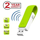 Avantree Leaf Long Range USB Bluetooth Audio Transmitter Adapter for PC Laptop Mac PS4 Nintendo Switch, Wireless Audio Dongle for Headphones Speakers Only, Plug and Play, aptX Low Latency (Color: Green - Bluetooth USB Audio Transmitter)