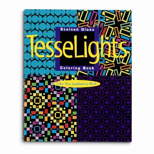 Mind Ware Stained Glass Tesselights Coloring Book