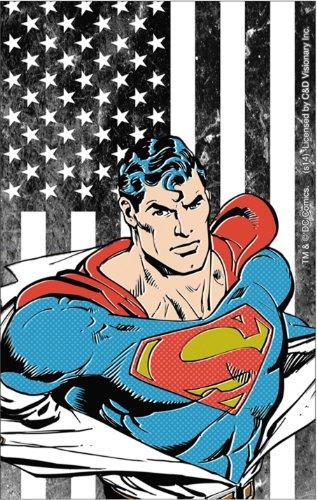 Licenses Products DC Comics Superman Flag Sticker