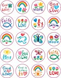 Faith Shape Stickers: Kid-Drawn