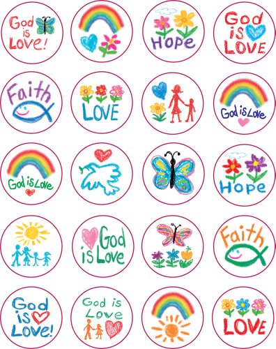 Carson Dellosa Christian Faith Shape Stickers (5239)