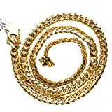 "14K YELLOW Gold MIAMI CUBAN SOLID CHAIN - 30"" Long 10.2X4MM Wide"