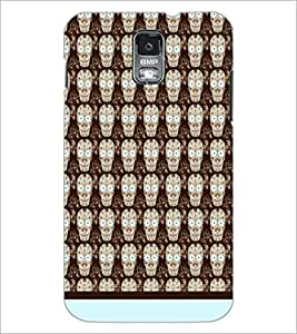 PrintDhaba Skull pattern D-1945 Back Case Cover for SAMSUNG GALAXY S5 (Multi-Coloured)