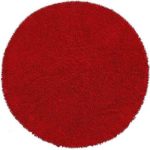Shagadelic Chenille Collection RED Twist Rug, 4 Sizes CHS13 (5' X 5' Round)