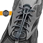 LOCK LACES (Patented Elastic Shoelace and Fastening System) (Reflective-Storm Gray)