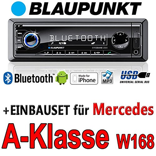 Mercedes classe a w168 brisbane bLAUPUNKT - 230/mP3/uSB avec kit de montage autoradio avec bluetooth