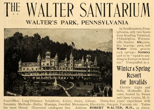 1900 Ad Walter Sanitarium Hotel Water Park Pennsylvania - Original Print Ad (Hotels With A Water Park compare prices)