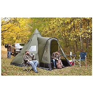 Amazon.com : Guide Gear 14x14' Deluxe Teepee Tent : Sports