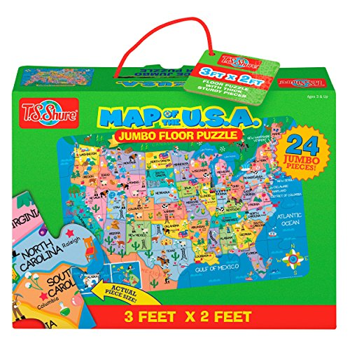 T.S. Shure Map of the U.S.A. Jumbo Floor Puzzle