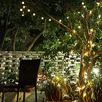 GDEALER Solar String Lights 30LED 20ft Solar Powered Starry Fairy Outdoor Rattan String Lights Ambiance Lighting for Landscape Patio Garden Bedroom Camping Christmas Party Wedding Warm White (1)