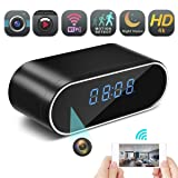 Hidden Spy Camera Wireless Hidden,FEEKE 4K Clock Hidden Cameras Wireless IP Surveillance Camera for Home Security Monitor Video Recorder Nanny Cam 150 Angle Night Vision Motion Detection(Black) (Color: Black)