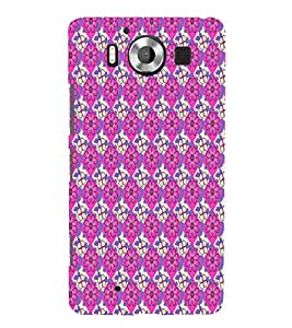 Pink Color Floral Design 3D Hard Polycarbonate Designer Back Case Cover for Nokia Lumia 950 :: Microsoft Lumia 950