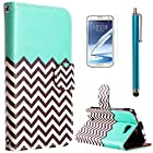 Note 2 Case, ULAK Unique Design PU Leather Wallet Case for Samsung galaxy Note 2 N7100 with Stylus and Screen Protector (FOLLOW THE SKY)