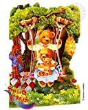 Santoro Interactive 3-D Swing Greeting Card, Teddy Bears Picnic (SSC48)