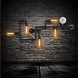 American Loft Metall, 5 Aufsätze, Bar-Tresen Wandleuchte, Industrie-Creative Flur, Wohnzimmer Wandleuchter, Metall, bronzefarben/Esszimmer Coffee house Lighting Fixtures