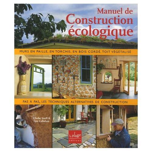 fiche lecture manuel construction ecologique