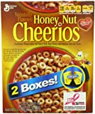 General Mills Cheerios Cereal, Honey Nut, 2 Boxes of 55 Ounces each