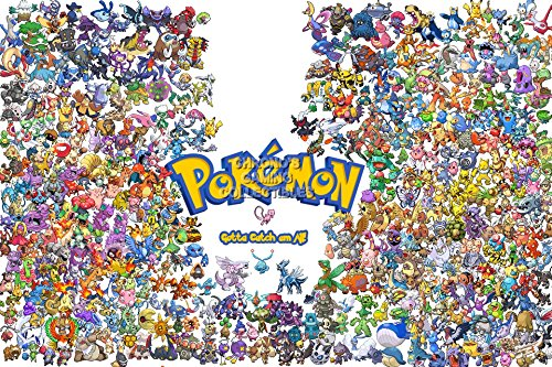 "CGC grande Pokemon-Catch-Poster Gotta em tutti! Game Boy Nintendo GB GBC GBA 3DS DS-EXT100, Carta, 16"" x 24"" (41cm x 61cm)"