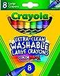 Crayola 8 Large Jumbo Washable Crayons