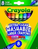 Crayola Washable Crayons, Large, 8 Colors Box (52-3280)