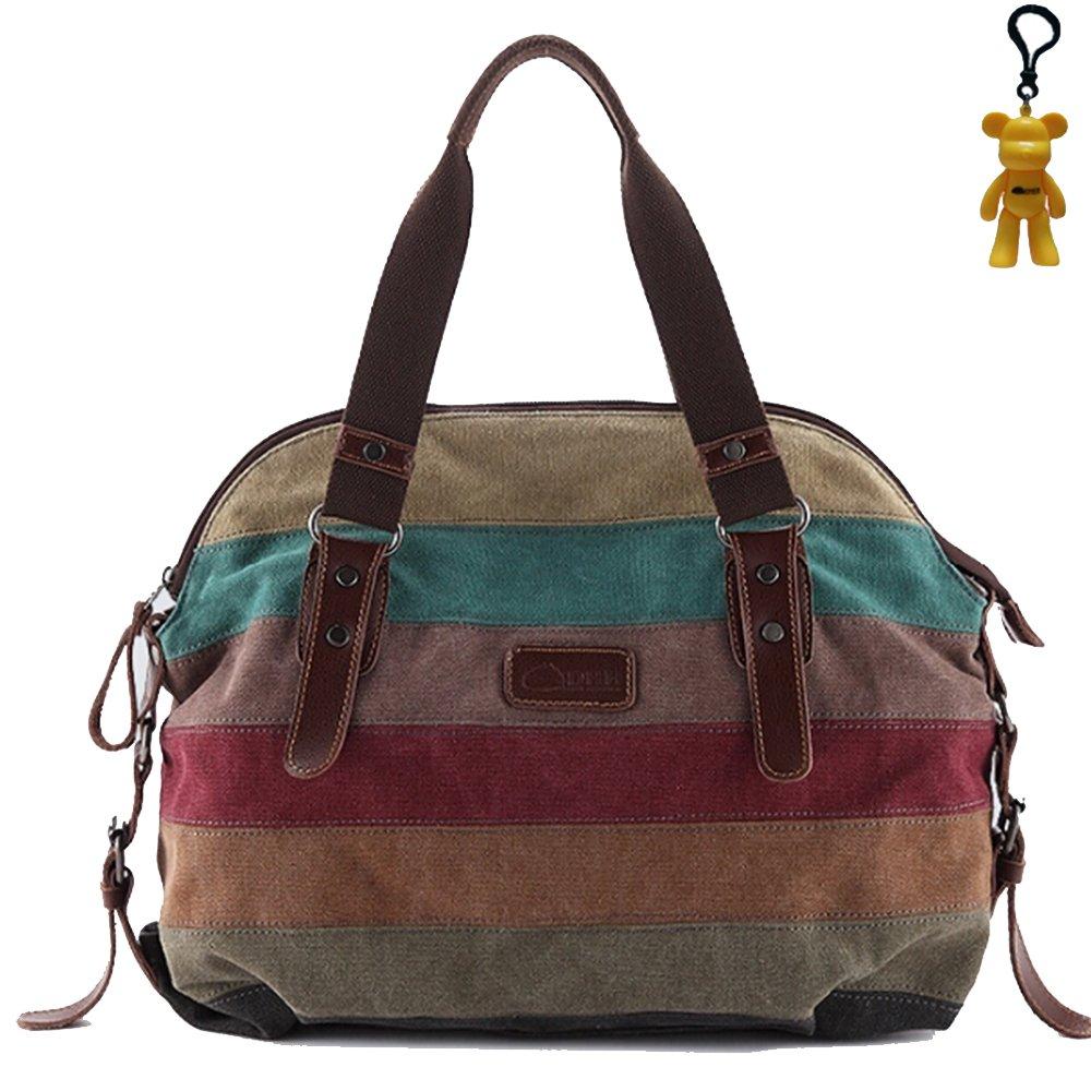 Tiny(TM) New Women Canvas+Leather Shoulder Bag Messenger Bag School Bag Retro Mosaic Canvas Shoulder Bag Purse By Tiny Direct Deal (Retro mosaic)Customer reviews and more information