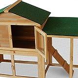 Kaninchenstall Hasenstall Hase Kaninchen Stall Käfig Kleintierstall Freilauf Garten XXL -