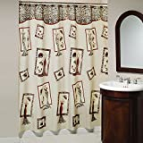 Saturday Knight Tres Chic Fabric Shower Curtain, Multicolor
