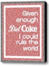 Abstract Diet Coke I can Rule The World Text Mosaic Framed