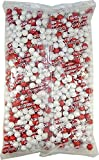 Sixlets Shimmer Red and White 2 Pound ( 32 Oz )