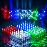 Dennov 100 LED Finger Lights Light Up Toys Party Favors Supplies, Assorted Color