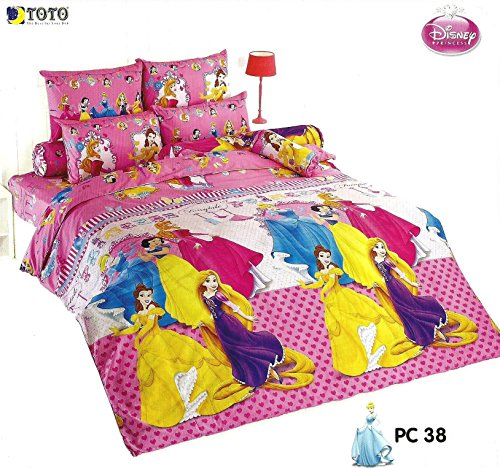 Disney Princess Bedding In Bag Set ; 1 Four Season Comforter With 4 Pieces Of Bed Fitted Sheet Set (Queen Size, Pc38) front-405524