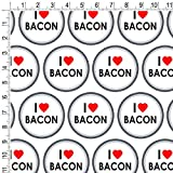 Premium Gift Wrap Wrapping Paper Roll I Love Heart - Bacon
