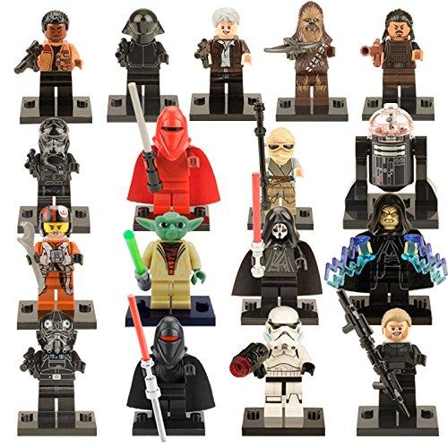 17pcs/lot Star Wars Mini figures The Force Awakens Yoda Master R2D2 Kylo Ren Darth Vader Building blocks Action Figure Toys
