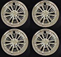 "(4) 10"" Chrome Wheel Covers Golf Cart Yamaha, Club Car"
