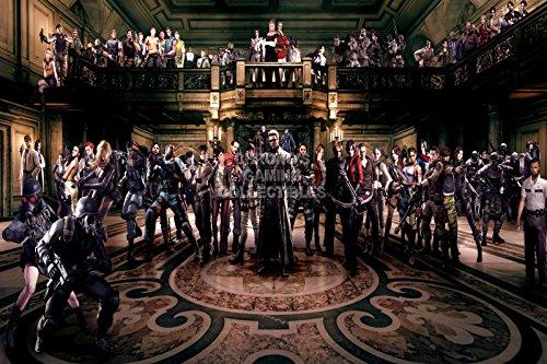 "CGC Poster grande, motivo: Resident Evil tutti i Nintendo Wii GameCube, 64 Playstation Sony PS1, PS2, PS3, EXT103, Carta, 24"" x 36"" (61cm x 91.5cm)"