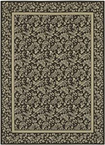 Area Rug 9x13 Rectangle Traditional Dk Cocoa Color Shaw