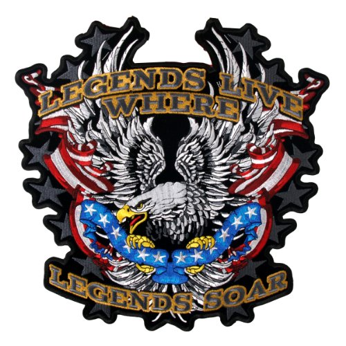 Hot Leathers Legends Soar Patriotic Eagle Patch (5