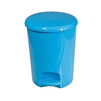 frandis p350104 poubelle p dale p dale ronde plastique bleu 5 l 20 x 25 cm cuisine. Black Bedroom Furniture Sets. Home Design Ideas