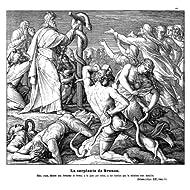 Grabado antiguo (1885) - Xilografía - La Serpiente De Bronce (22x25.5), Reusche
