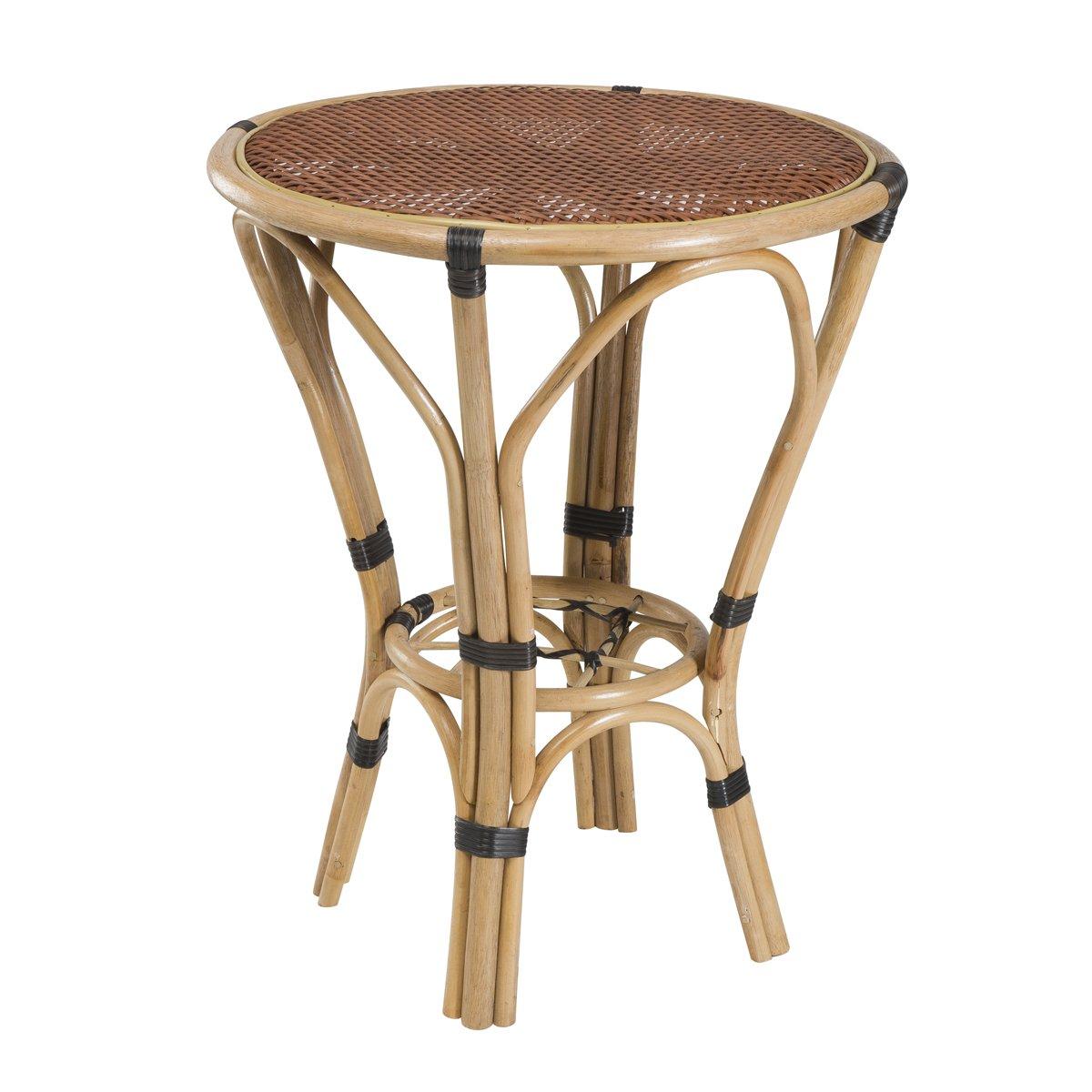 Runder Bistrotisch Mokka n°3 – Gartentisch – Polyrattan/Bambus günstig bestellen