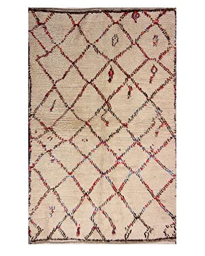 "nuLOOM One-of-a-Kind Hand-Knotted Evans Berber Shag Rug, Natural, 4' 7"" x 6' 11"""