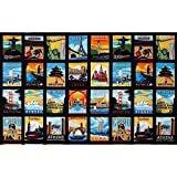 Dream Vacation Postcard Blocks Bright Fabric By The Yard