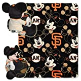 MLB San Francisco Giants Mickey Mouse Pillow with Fleece Throw Blanket Set