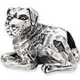 Reflection Beads Silver Rottweiler Dog Bead