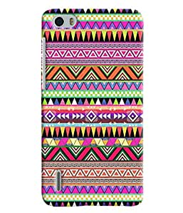 Blue Throat Colored Stripes Pattern Printed Designer Back Cover For Huawei Honor 6