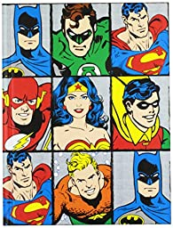 Silver Buffalo DC6150 DC Comics Characters Grid Hard Cover Journal with Ribbon Book Mark, 160-Pages, 6 in. x 8 in