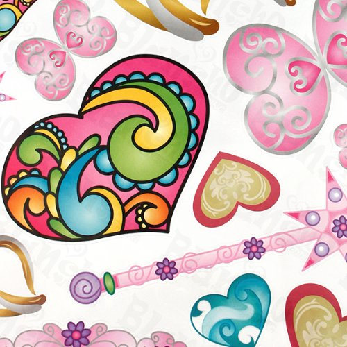Colorful Hearts - Large Wall Decals Stickers Appliques Home Decor