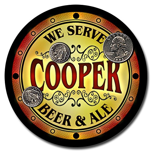 cooper-family-name-beer-and-ale-rubber-drink-coasters-set-of-4