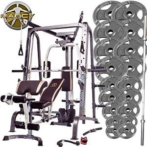weider c700 smith machine 140kg olympic weight set