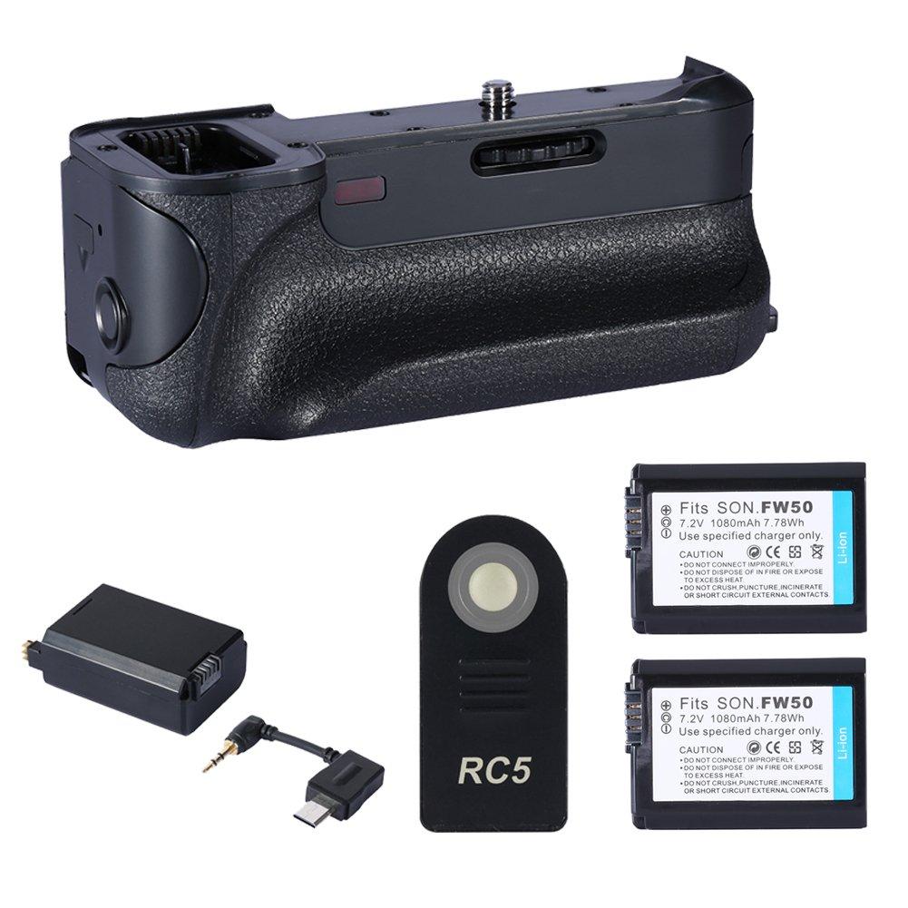 Neewer® Batteriegriff Ersatz für Sony NPFW50 kompatibel mit Sony A6000 + 2 PCS LithiumIonenAkku Ersatz für Sony NPFW50 Akku kompatibel mit Sony Alpha 7, a7, Alpha 7R, A7R, Alpha 7S, A7S, Alpha a3000 , Alpha A5000, A6000 Alpha, NEX3, NEX3N, NEX5, NEX5N, NEX5R, NEX5T, NEX6, NEX7, NEXC3, NEXF3, SLTA33 , SLTA35, SLTA37, SLTA55V, Cybershot DSCRX10, NEX3C, NEX5C, CX100E, CX500E, CX520E    Kundenbewertung und Beschreibung